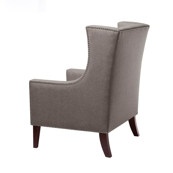 Barton Grey Wing Chair