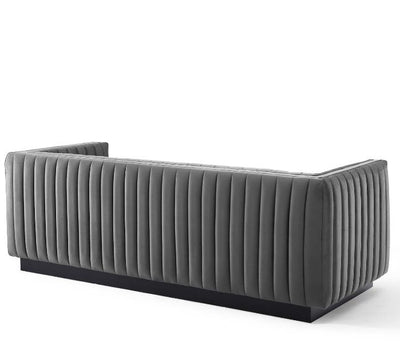 Citi Channel Tufted Velvet Sofa