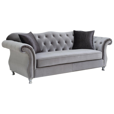 Frostine Sofa w/ Crystal Button Tufting - riteathomeatlanta