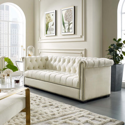 Hemmit Performance Velvet Sofa