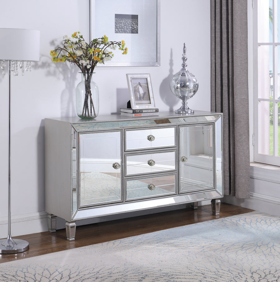 Lordess Mirrored Accent Cabinet