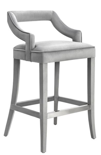 Tiffany Grey Velvet Stools