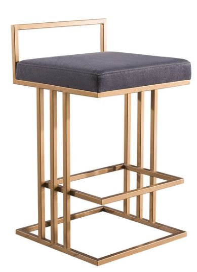Trevi Slub Grey Counter Stool - riteathomeatlanta