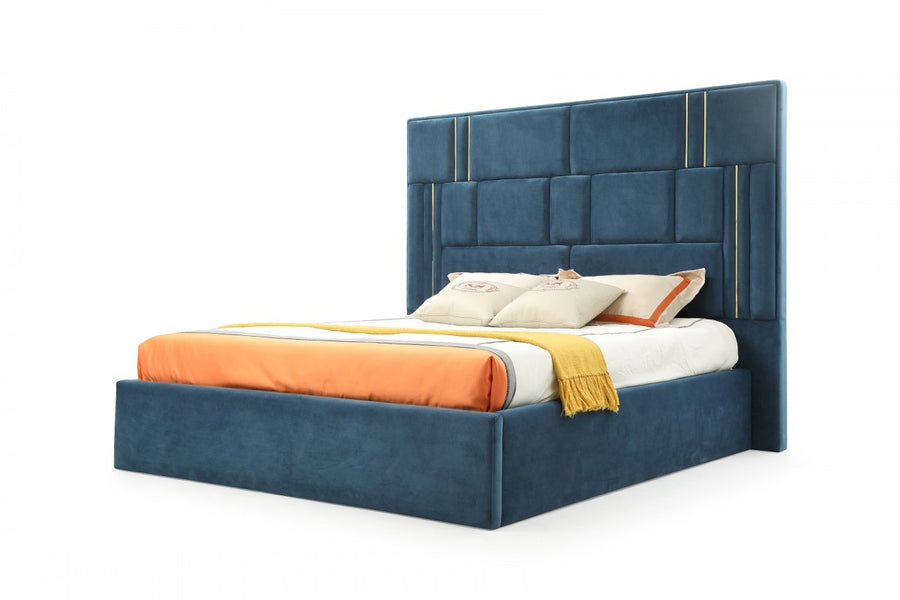 Aspire Blue Upholstered Bed