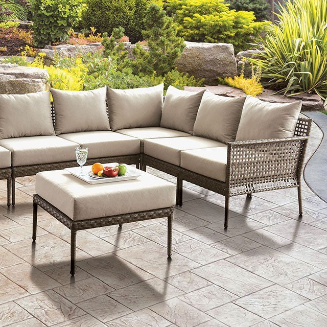Aleisha Outdoor Patio Ottoman