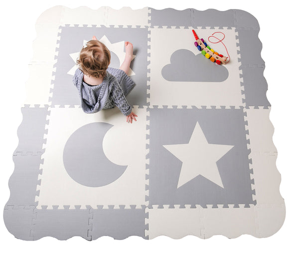 My Sky Foam Baby Play Mat (Grey)
