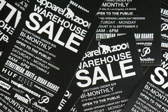 APPAREL ZOO WAREHOUSE SALE - EVERY WEEKEND