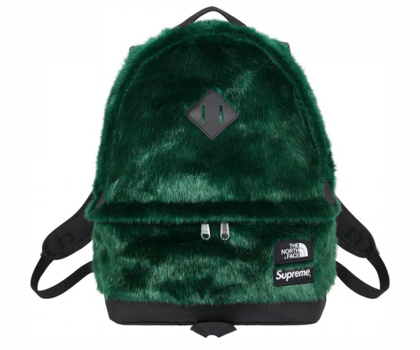 Supreme The North Face Faux Fur Backpack Green FW20