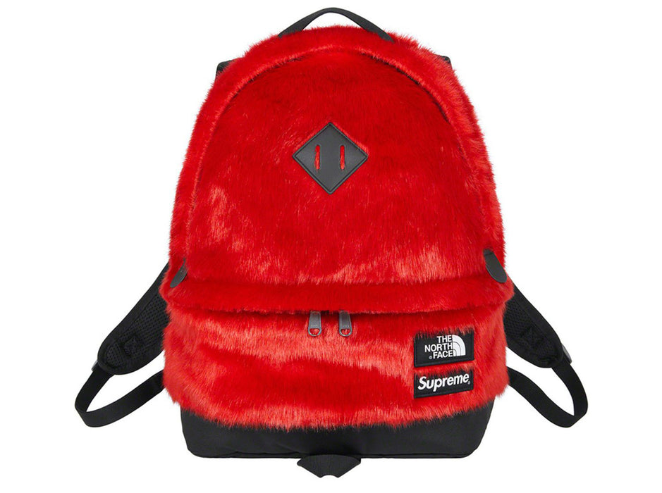 Supreme The North Face Faux Fur Backpack Red FW20