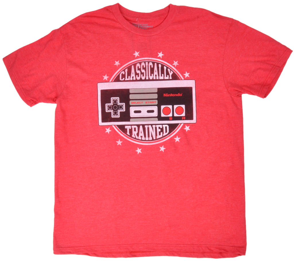 Nintendo Tee Shirt Classically Trained Controller Red Licensed Authentic Mens