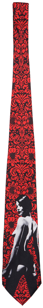 Two in the Shirt Stripper Necktie TITS Tie Mens Red