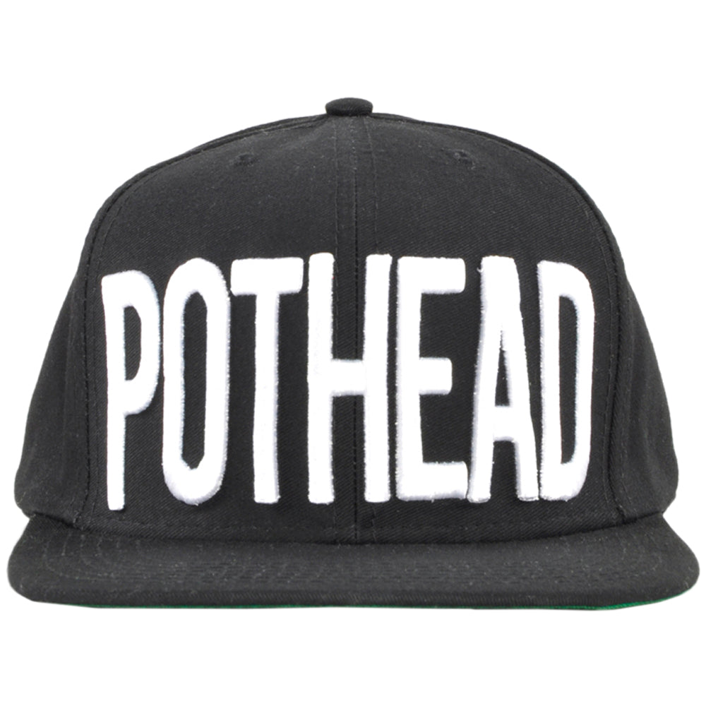 Booger Kids Pothead Snapback Hat Mens Black