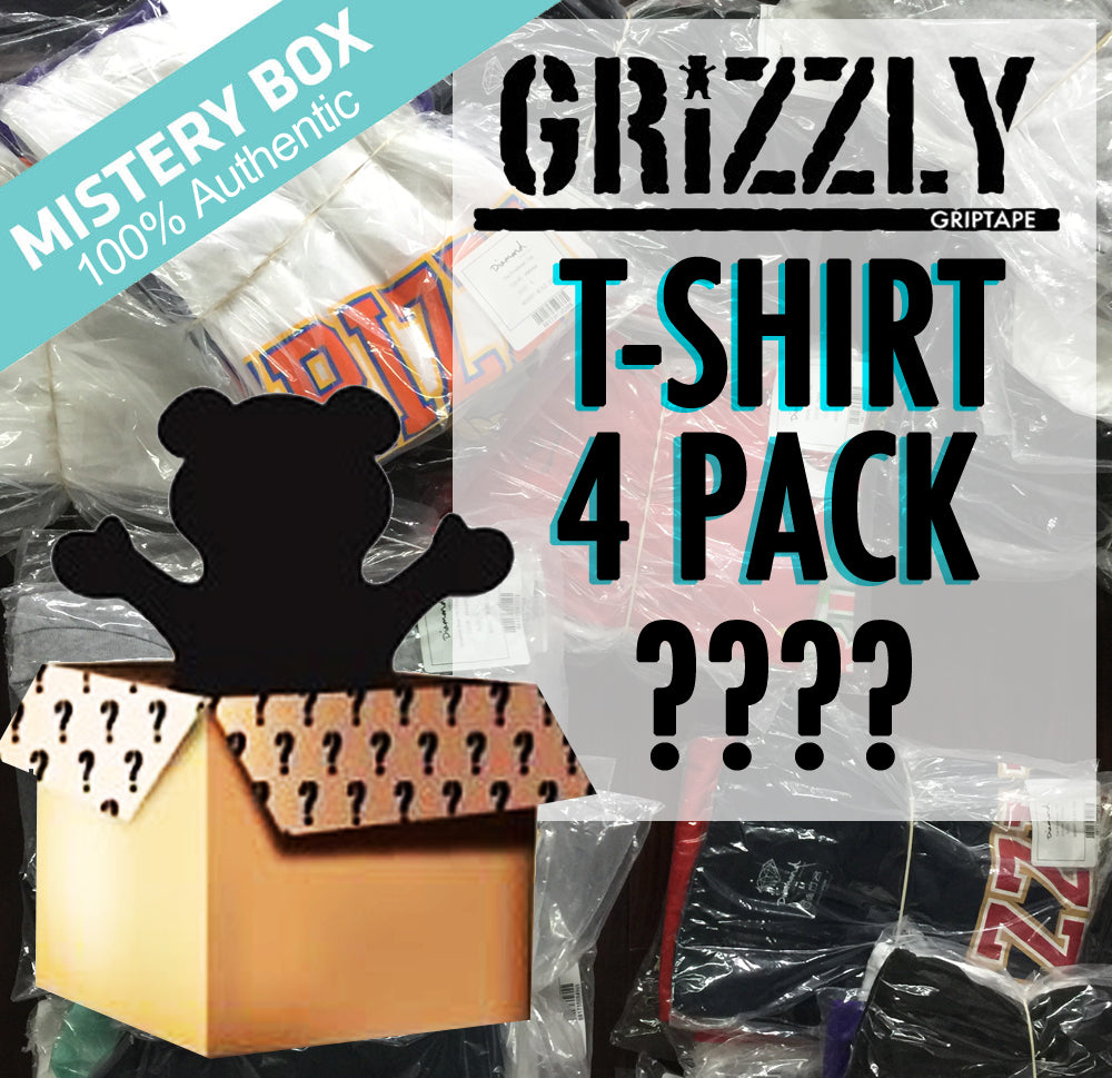 Grizzly Griptape Blind Box T-Shirt 4 Pack Set Streetwear