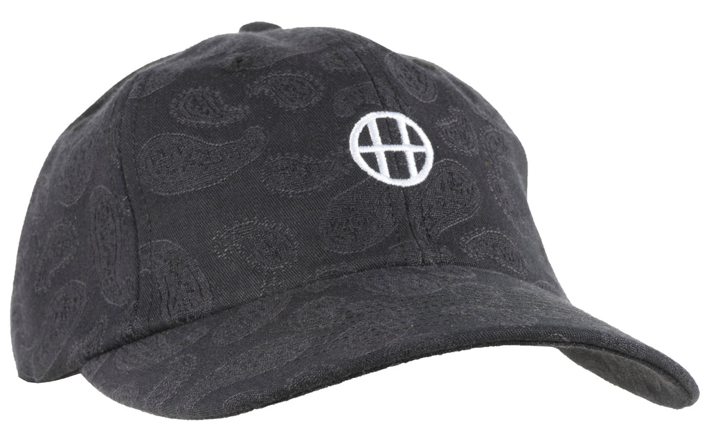 HUF Worldwide Circle H Jacquard Dad Hat Strapback Mens Black Paisely