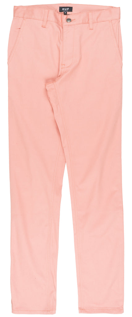 HUF Fulton Chino Slim Fit Pants Bottoms Casual Dress Fashion Mens Style Pink