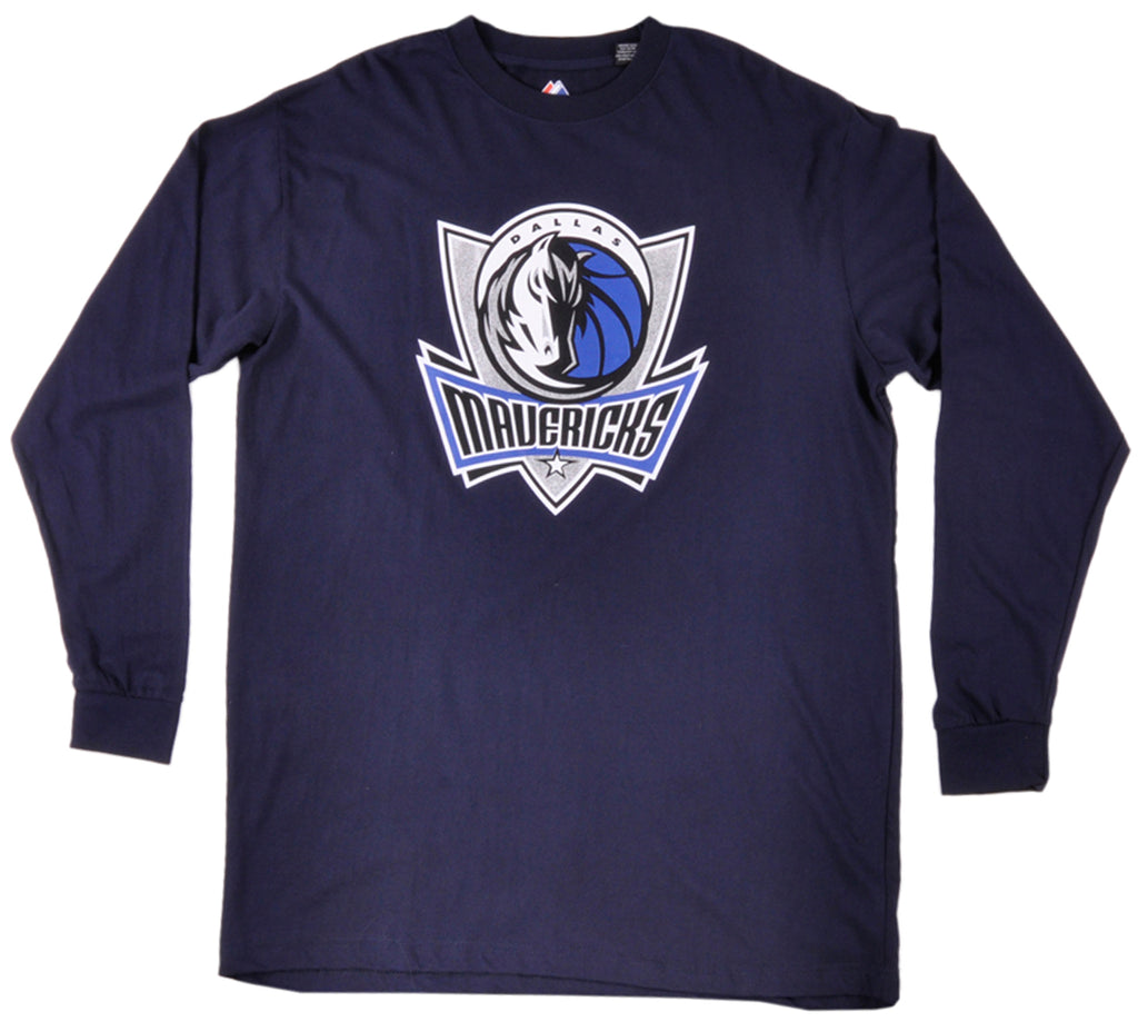 Majestic Dallas Mavericks Long Sleeve Shirt Mens Big and Tall
