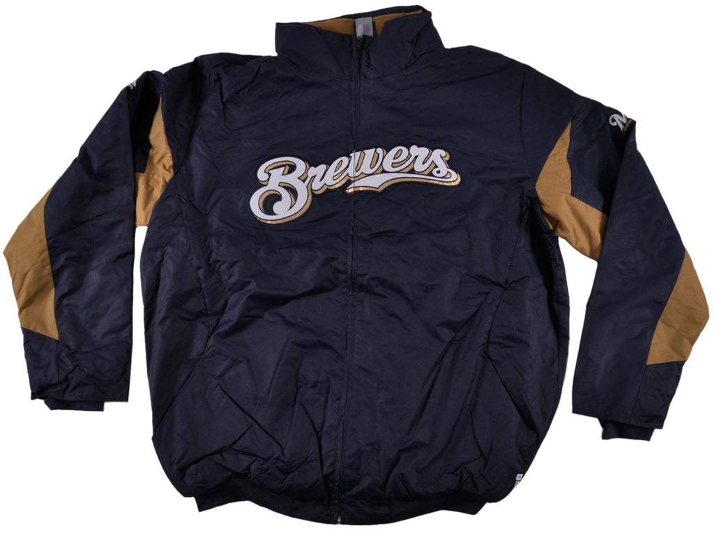 Majestic Milwaukee Brewers Coaches Jacket Plus Size Mens MLB
