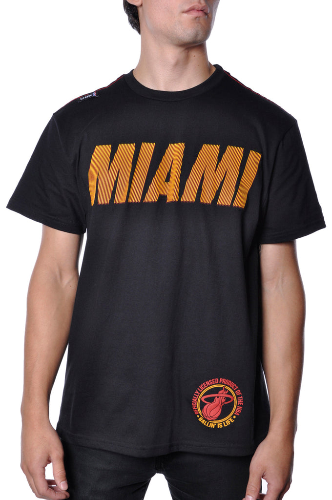 Miami Heat T-Shirt Mens Black NBA