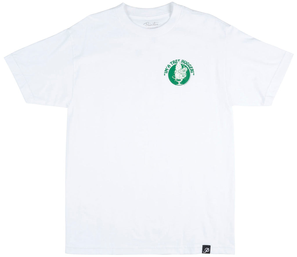 Primitive Apparel Tree Hugger T-Shirt Skatewear Mens White Large