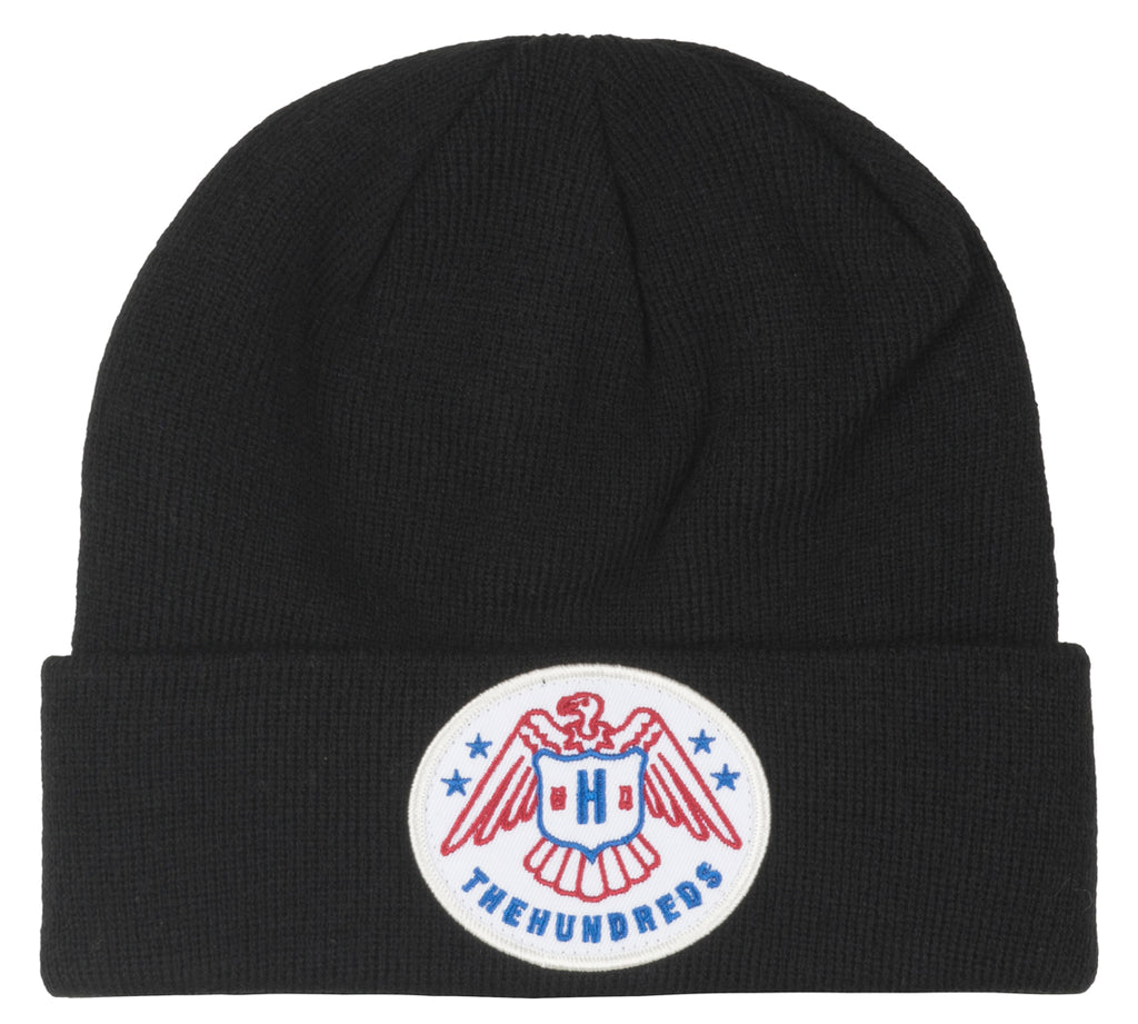 The Hundreds Shaw Beanie Hat Cuff Knitted Black