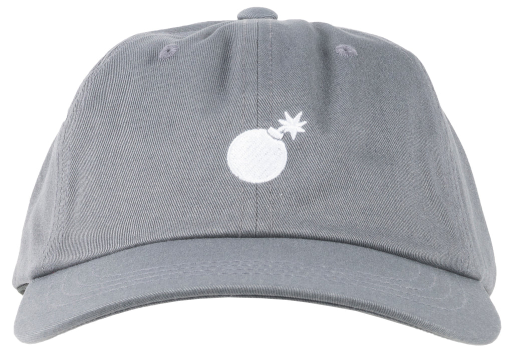 The Hundres Solid Bomb Dad Hat Charcoal Mens