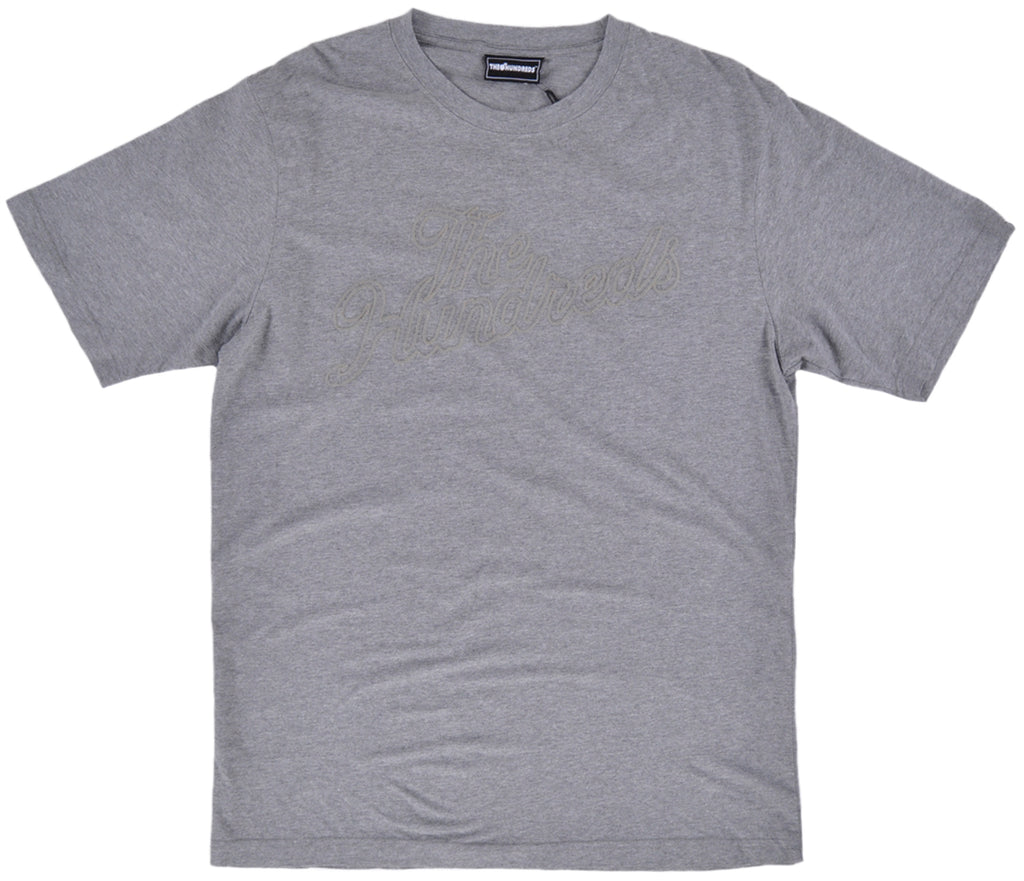 The Hundreds Raid T-Shirt Grey Mens Embroidered Top