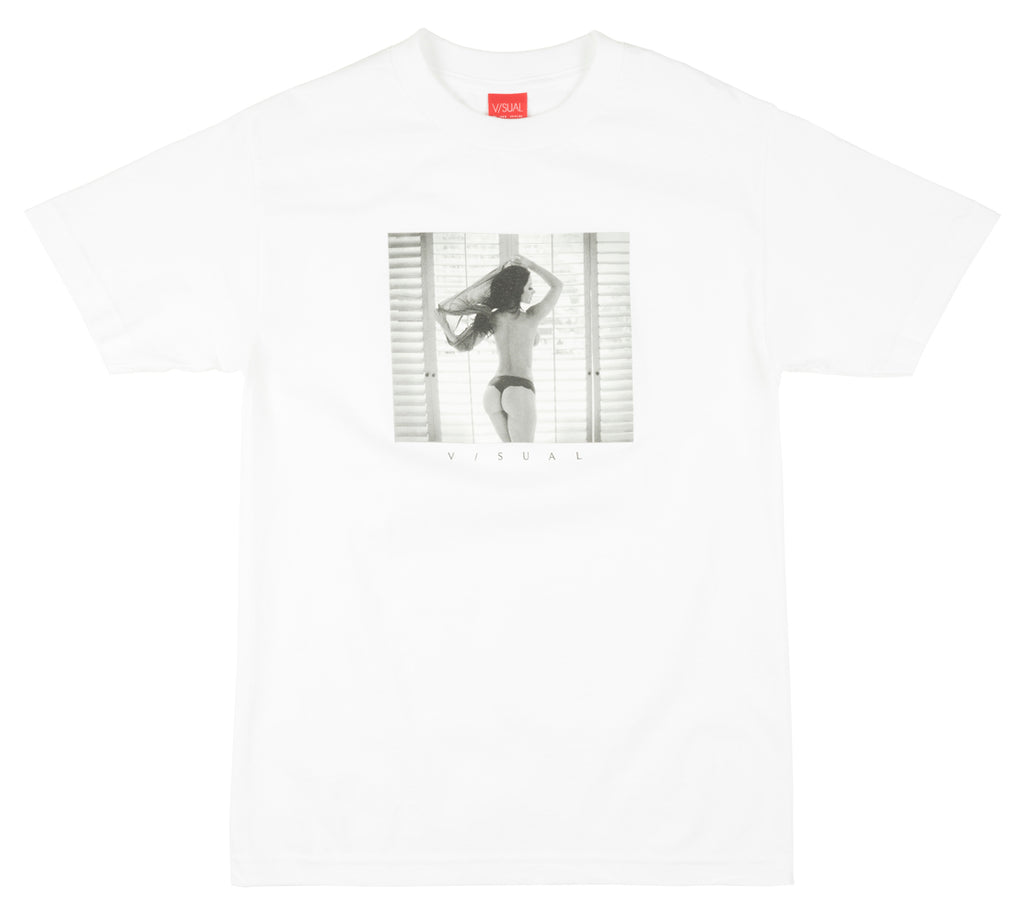 V/SUAL Open Blinds T-Shirt Streetwear Visual Mens White