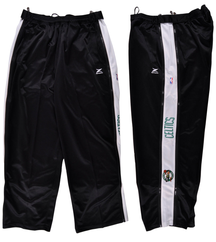 Boston Celtics Workout Pants  Black Zip Way NBA Mens Size 2XL 38 Waist