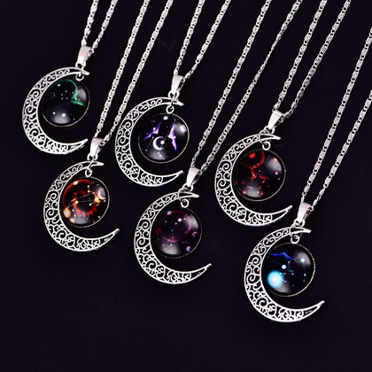 Colorful Zodiac Pendant Necklaces