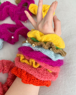 Hand-Knit Scrunchie Lottery
