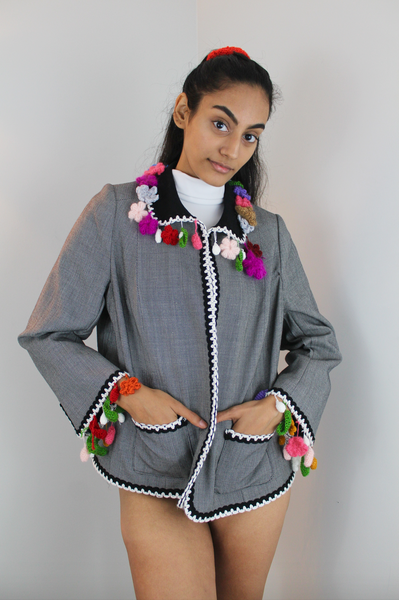 TING-TING jacket with hand-crocheted details