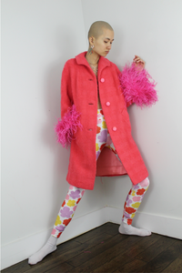 Anais Bouclé Coat - Strawberry