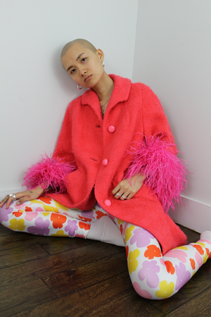 Strawberry Wool Anais Coat