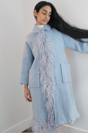 Cloud Mohair Magnolia Coat