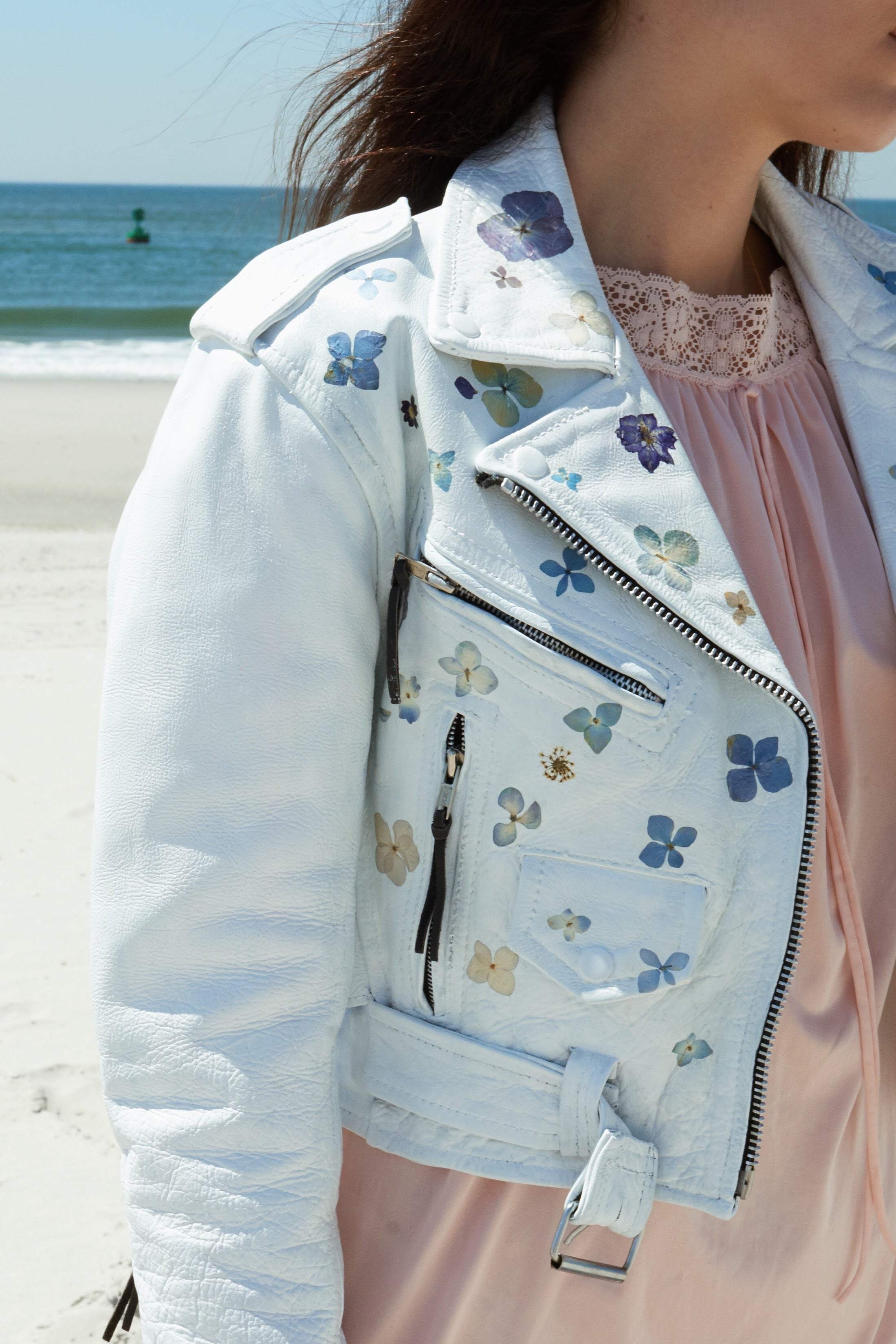 NOOR pressed flower power jacket