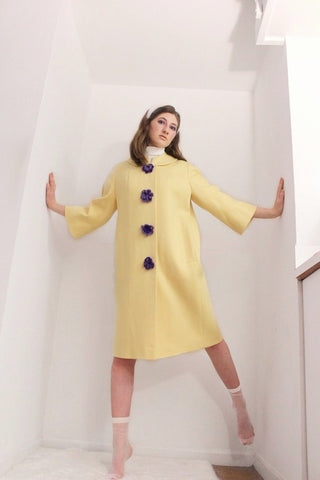 PATSY coat with hand-crocheted buttons