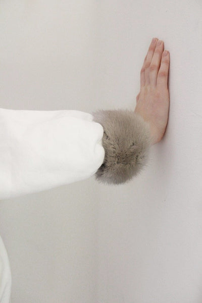 BISOUS recycled mink cuffs