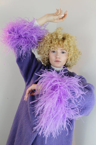 ANAIS Mohair Coat in Lavender