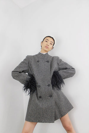 MARJORIE feathered coat