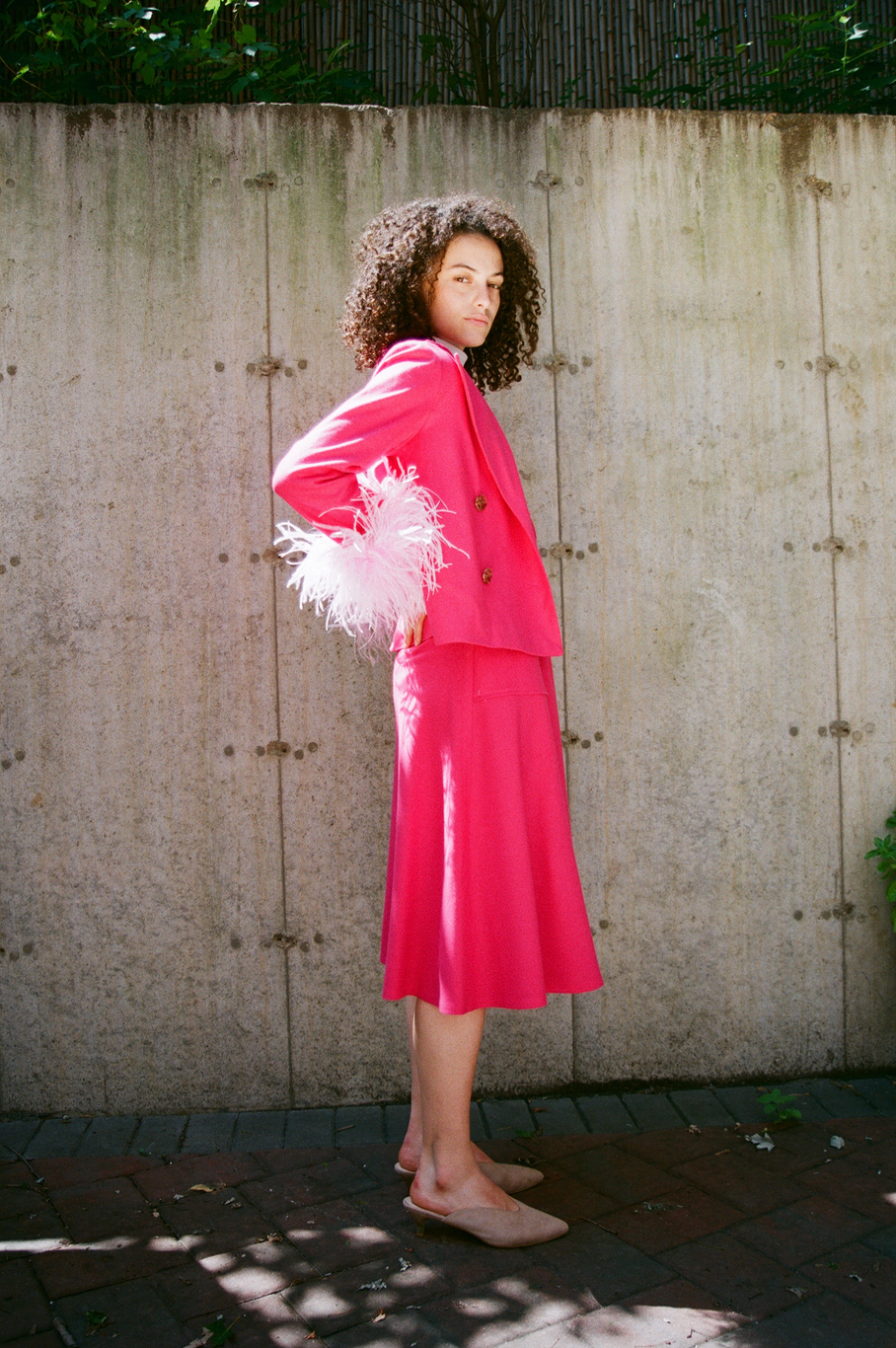 Shake Shake Swing Jacket in Rose (Pre-Order)