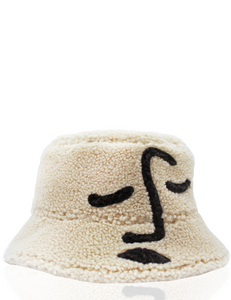 Shearling Face Sun Hat