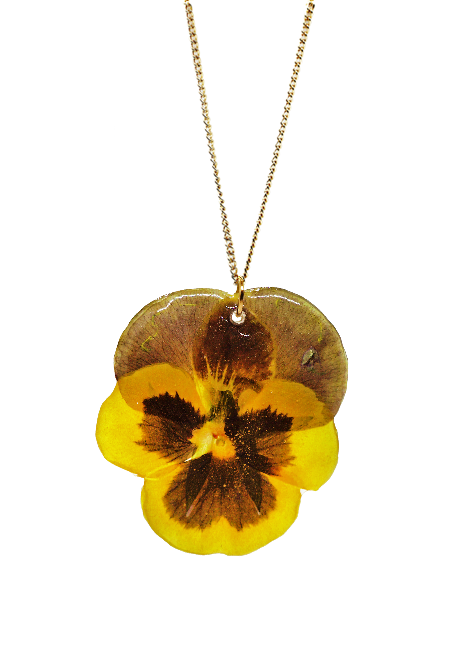 Sunshine Pansy Necklace