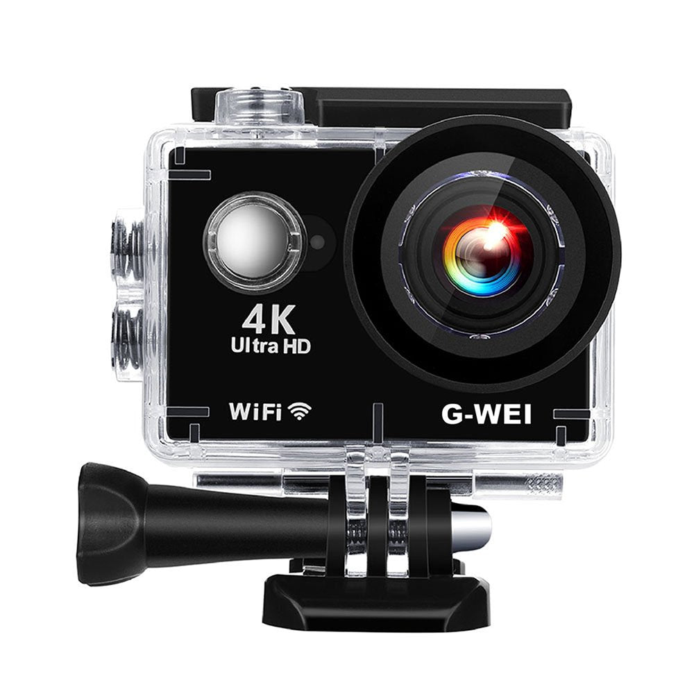 "4K Touchscreen Sports Cam S350 WIFI Sports Action Camera Ultra HD 2.0"" Waterproof DV Camcorder 16MP 170 Degree Wide Angle Shark-eye Lens Sony Sensor IMX 179 8.0MP CMOS with Accessories Kits Black"