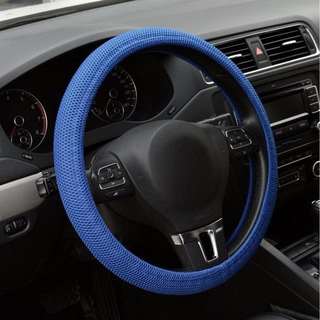 Auto Car Interior Accessories Universal Elastic Handmade Skidproof Protective Case Skidproof Steering Wheel Cover