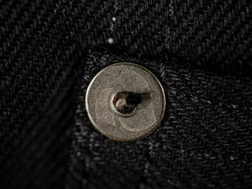 3sixteen NT-220x Shadow Selvedge Narrow Tapered Jeans rivet