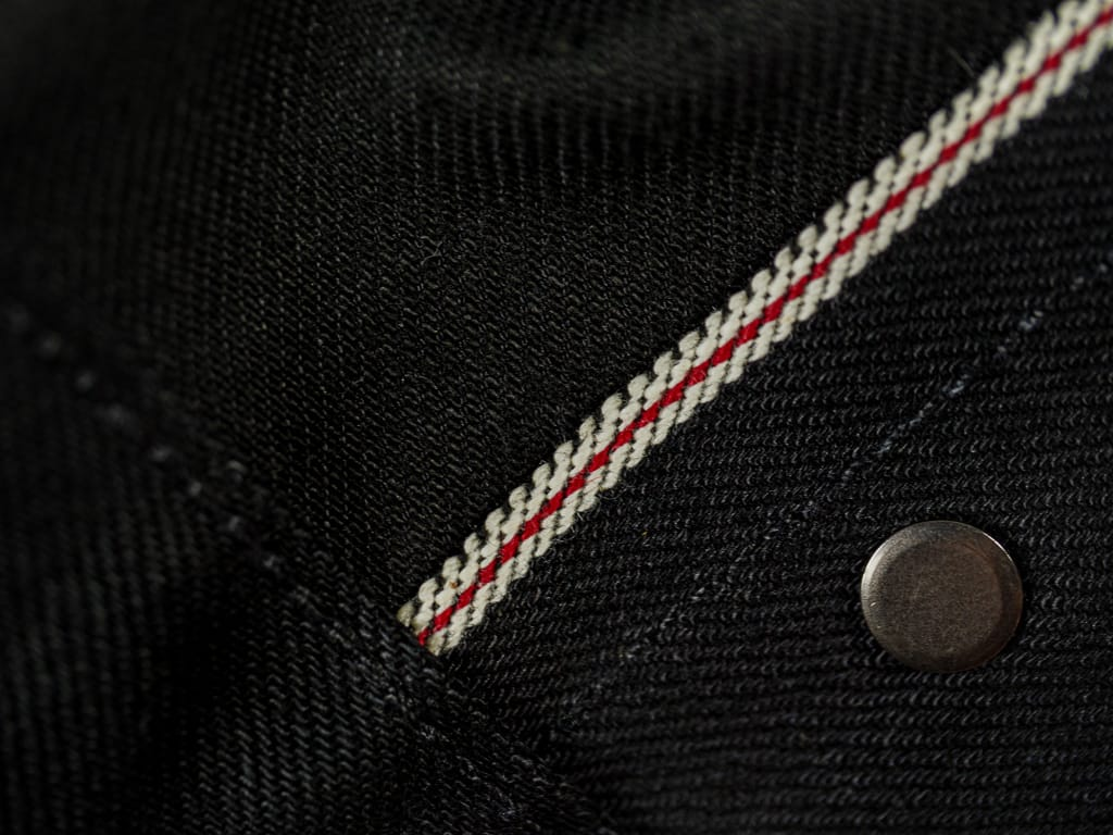 3sixteen NT-220x Shadow Narrow Tapered Jeans selvedge interior detail