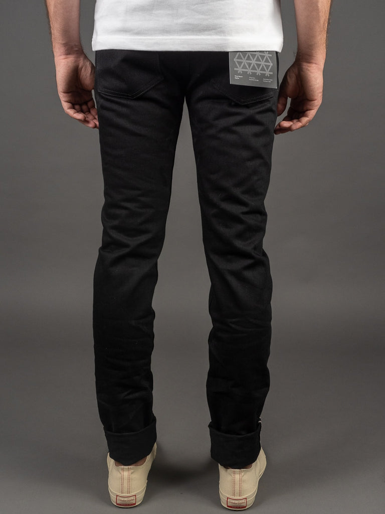 3sixteen NT-220x Shadow Selvedge Narrow Tapered Jeans double black back