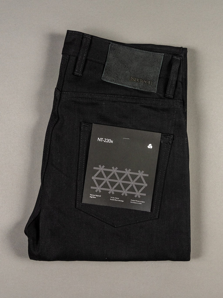 3sixteen NT-220x Selvedge  Narrow Tapered Jeans double black