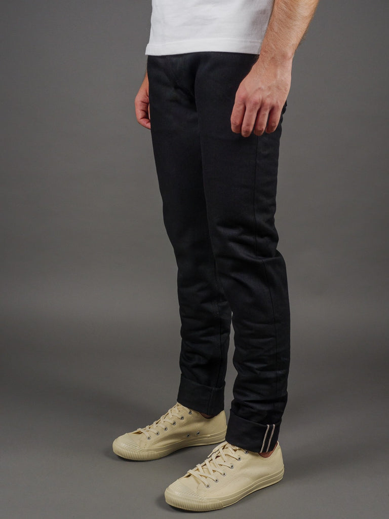 3sixteen NT-220x Shadow Selvedge Narrow Tapered Jeans double black side
