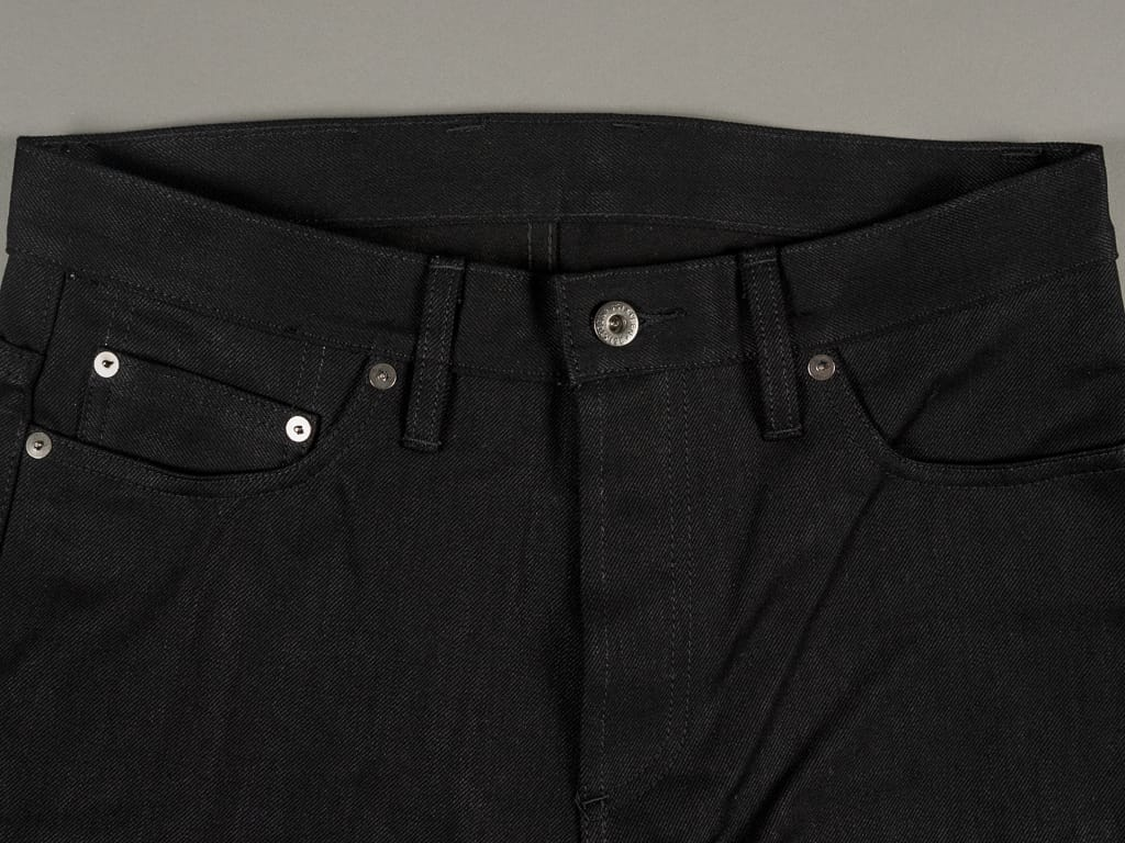 3sixteen NT-220x Shadow Selvedge Narrow Tapered Jeans waist